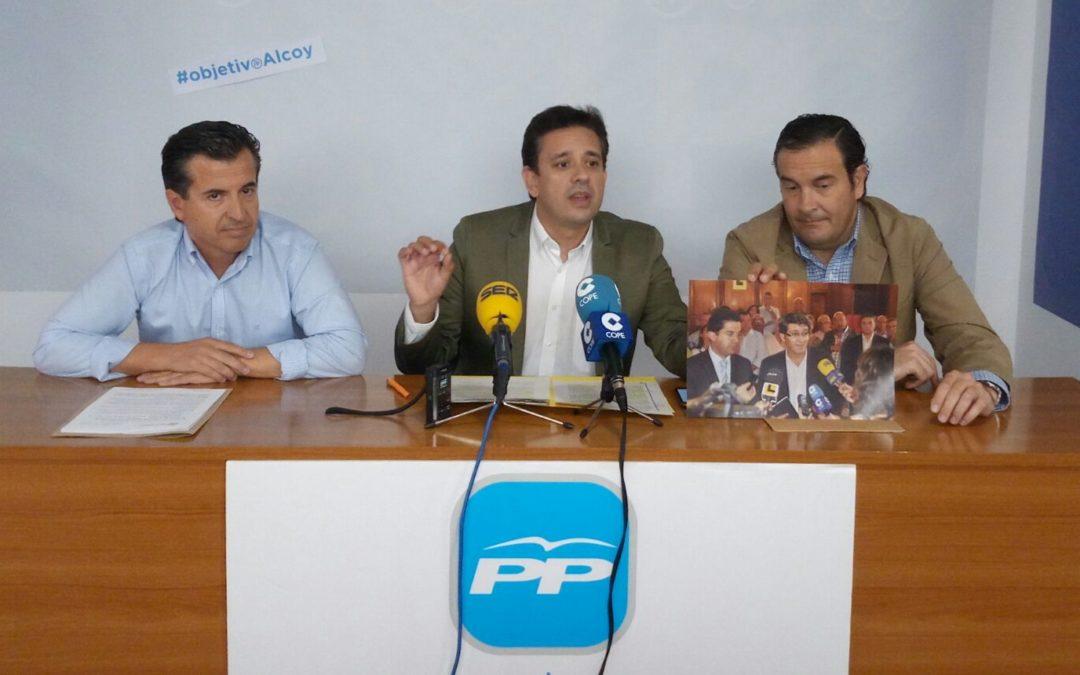 """El PP denuncia la """"desatención continua"""" de la Generalitat con las comarcas de L'Alcoiá y El Comtat"""