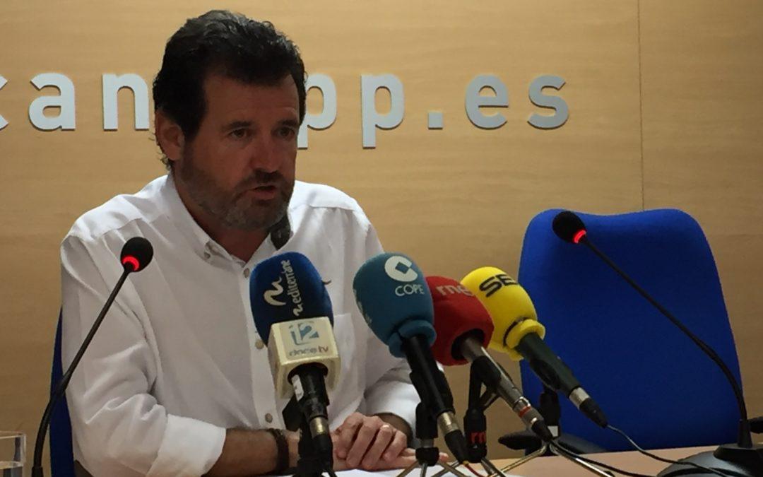 """Císcar: """"Sánchez y los independentistas desmontan los trasvases a la provincia"""""""
