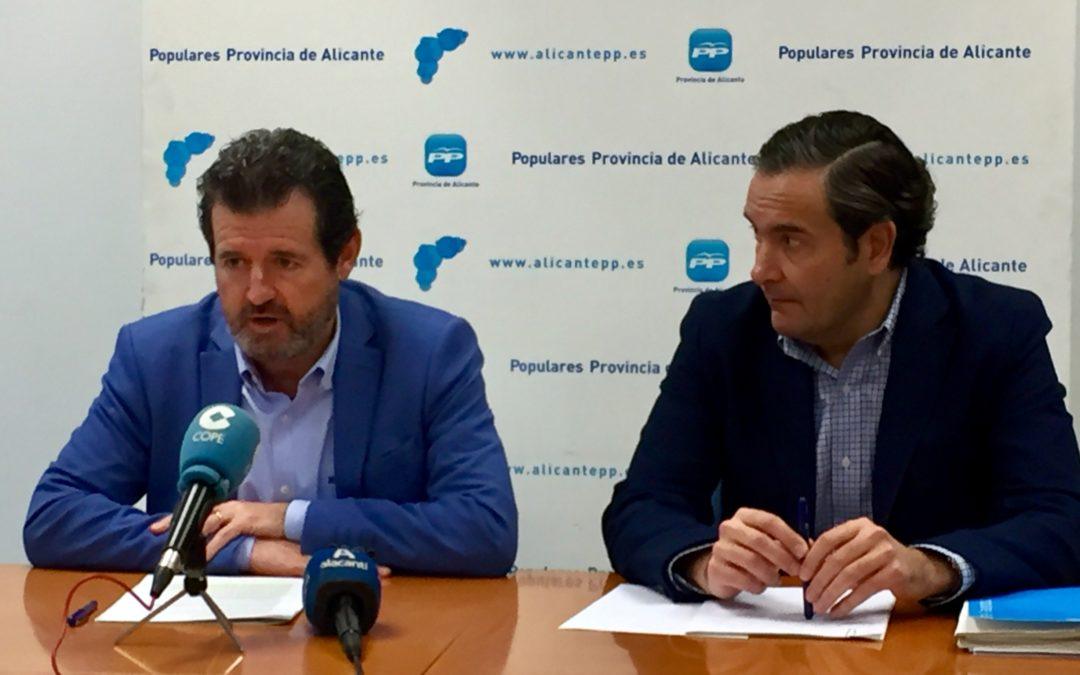 El Consell rechaza invertir 180 millones en la provincia propuestos por el PP