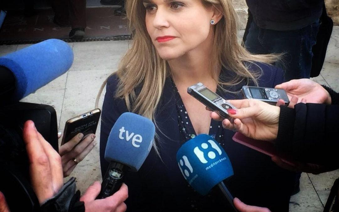"""Eva Ortiz: """"Hay quien quisiera que la investigación de la financiación de PSPV y Compromís fuera un mal sueño y acabara ya, pero está empezando"""""""