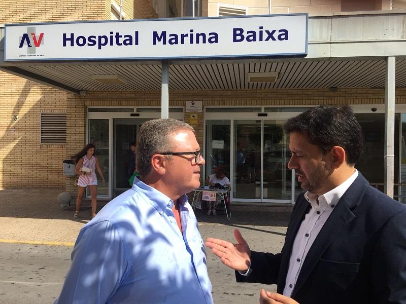 El Grupo Popular exige un informe estructural sobre el Hospital de la Marina Baixa tras el desplome del tercer techo en año y medio