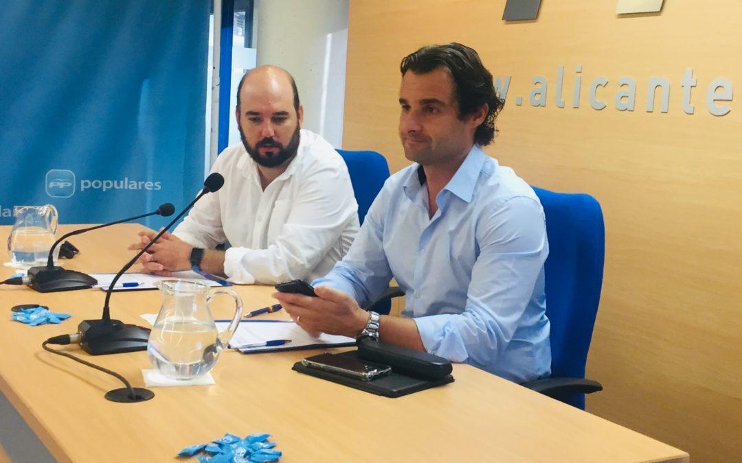 """Dolón: """"PSOE, Compromís y Podemos están asfixiando a la Provincia de Alicante"""""""