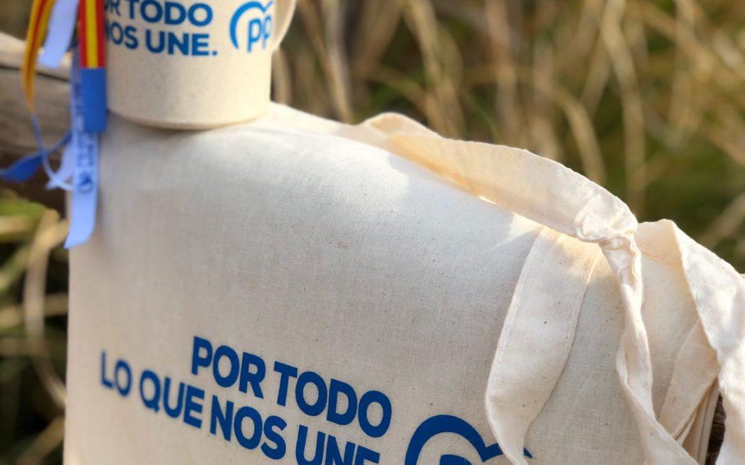 El PP utilizará 'merchandising' ecológico en la campaña electoral