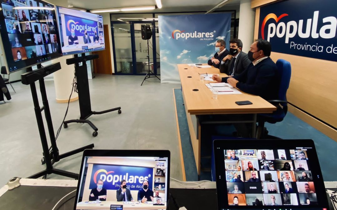 El PP de la Provincia de Alicante aprueba la celebración de sus próximas asambleas locales con una primera fase en 55 municipios