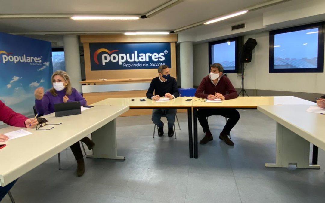 El PP de la Provincia de Alicante exige al Gobierno de España y al Consell un plan de rescate urgente para la hostelería ante la falta de medidas concretas para el sector