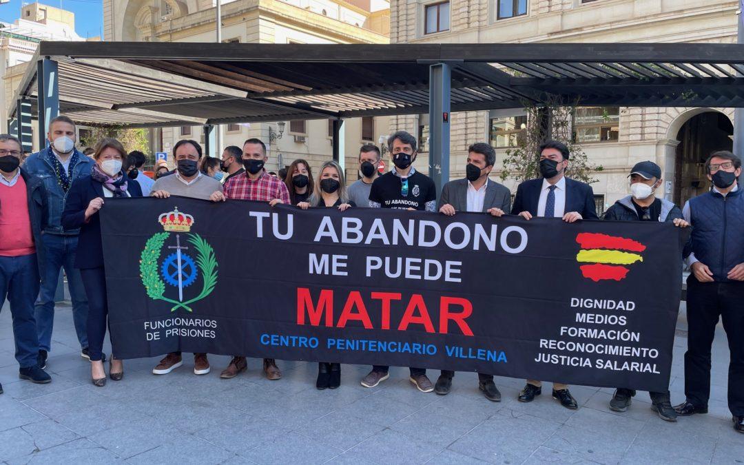 El PP de la Provincia de Alicante apoya a los funcionarios de prisiones en sus reivindicaciones como agentes de la autoridad y equiparación salarial