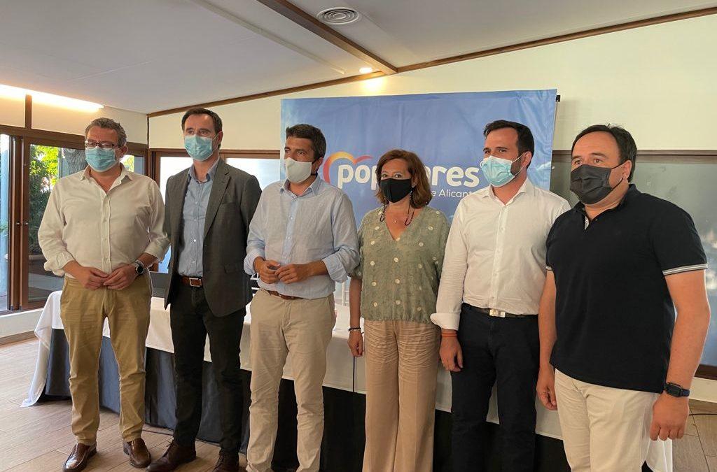 Mazón cierra su último Comité Ejecutivo Provincial como presidente del PP de la Provincia de Alicante